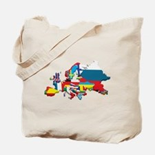 Flags map of Europe Tote Bag