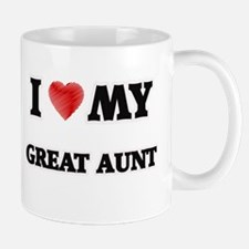I Love My Great Aunt Mugs