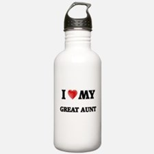 I Love My Great Aunt Water Bottle