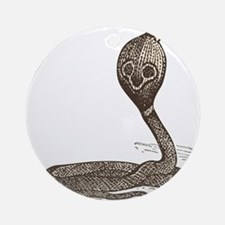 Hand painted snake Round Ornament
