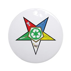 OES Recycling Ornament (Round)