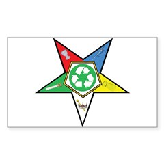 OES Recycling Rectangle Decal