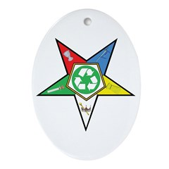 OES Recycling Oval Ornament
