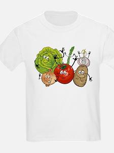 Funny cartoon vegetables T-Shirt