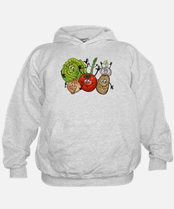 Funny cartoon vegetables Hoodie