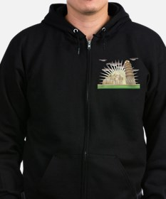 World famous Leaning tower of Pi Zip Hoodie (dark)