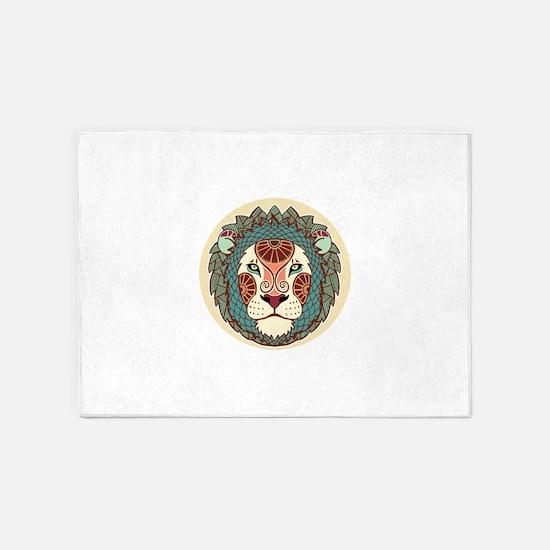 Leo zodiac sign 5'x7'Area Rug