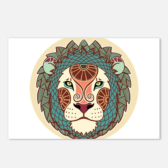 Leo zodiac sign Postcards (Package of 8)