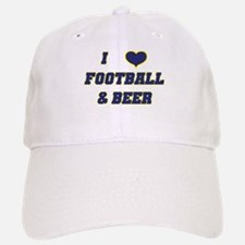 I Love Football & Beer Baseball Baseball Cap