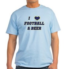 I Love Football & Beer T-Shirt