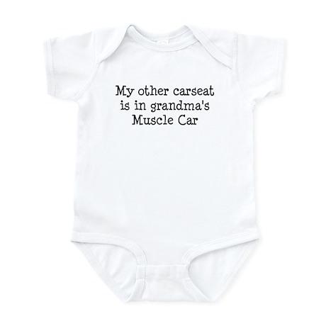 Carseat in Grandmas Muscle Car Infant Bodysuit