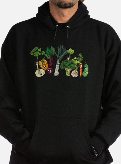 Funny cartoon vegetables Hoodie (dark)