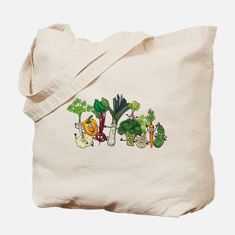 Funny cartoon vegetables Tote Bag