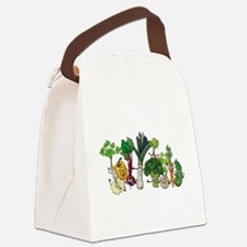 Funny cartoon vegetables Canvas Lunch Bag