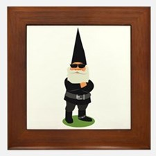 Biker Gnome Framed Tile