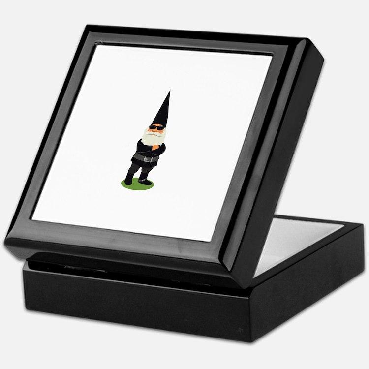 Biker Gnome Keepsake Box