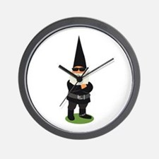 Biker Gnome Wall Clock