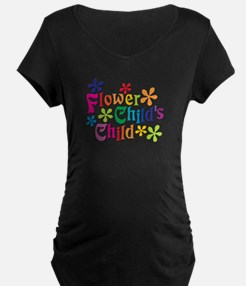 Flower Child's Child Maternity T-Shirt