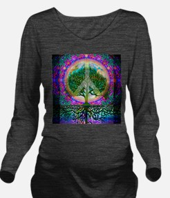 Unique World peace Long Sleeve Maternity T-Shirt