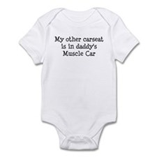 Carseat in Daddy's Muscle Car Infant Bodysuit