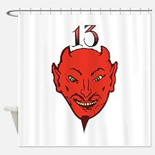 Devil Face Shower Curtain