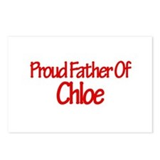 Proud Father of Chloe Postcards (Package of 8)