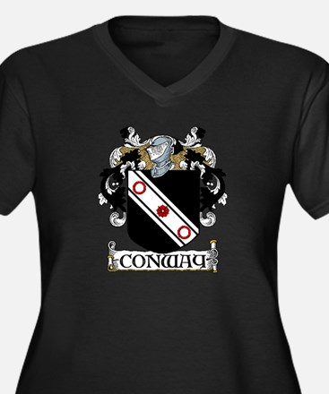 Conway Coat of Arms Women's Plus Size V-Neck Dark