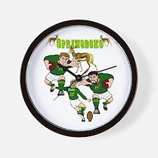 Springboks Rugby Team Wall Clock