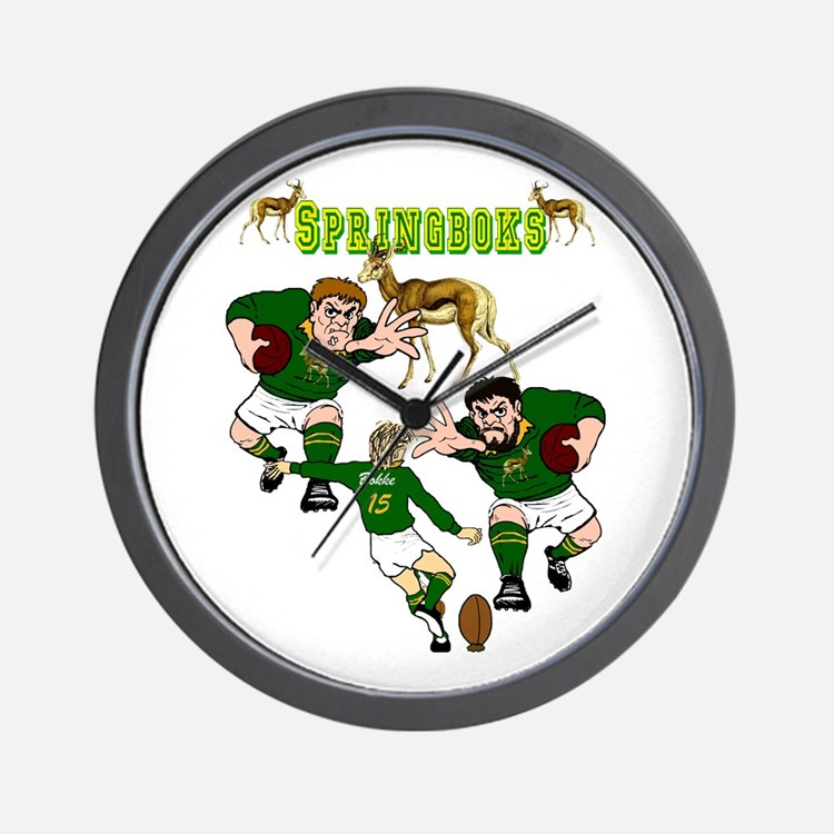 South african rugby clocks south african rugby wall for Modern wall clocks south africa