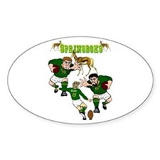 Springboks Rugby Team Oval Decal