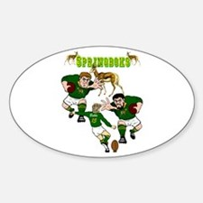 Springboks Rugby Team Oval Decal
