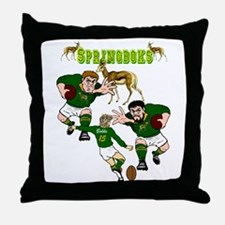 Springboks Rugby Team Throw Pillow