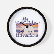 South Pole Adventure Wall Clock