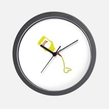 Mustard Bottle Wall Clock