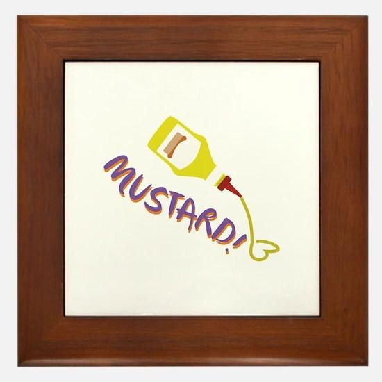 Mustard! Framed Tile