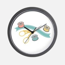 Sewing Notions Wall Clock