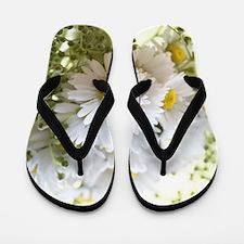 Bouquet of daisies in LOVE Flip Flops