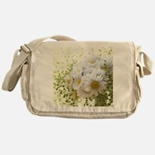Bouquet of daisies in LOVE Messenger Bag