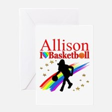 GO BASKETBALL Greeting Card