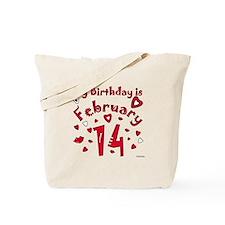 Valentine Feb. 14th Birthday Tote Bag