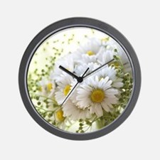 Bouquet of daisies in LOVE Wall Clock