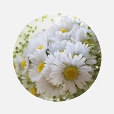 Bouquet of daisies in LOVE Round Ornament