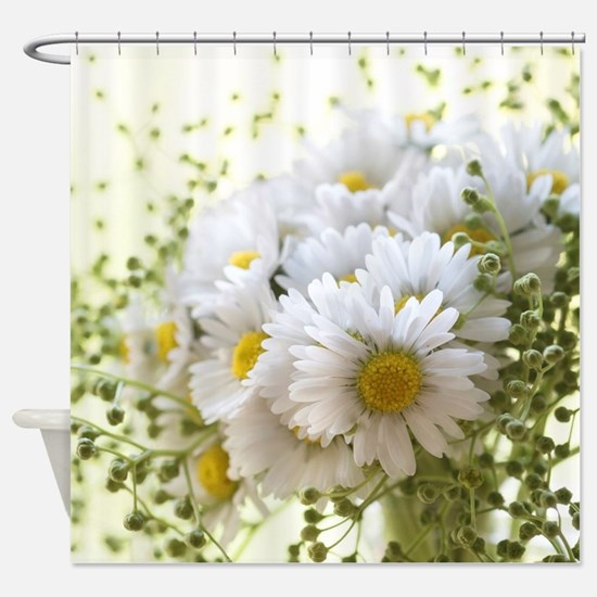 Bouquet of daisies in LOVE Shower Curtain