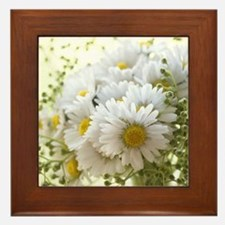 Bouquet of daisies in LOVE Framed Tile