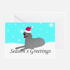 Weimaraner Santa Greeting Card