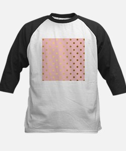 Golden dots on pink backround Baseball Jersey