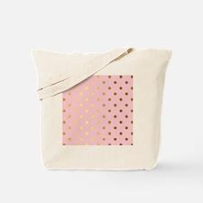 Golden dots on pink backround Tote Bag