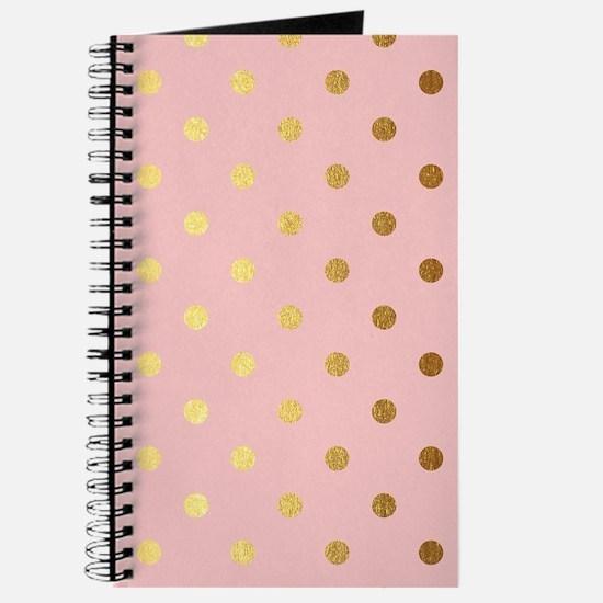 Golden dots on pink backround Journal