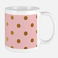 Golden dots on pink backround Mugs