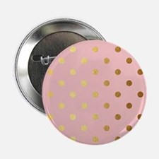 "Golden dots on pink backro 2.25"" Button (100 pack)"